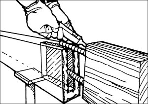 Timber Resin Splice repair drawing - how to repair a rotted beam or joist end