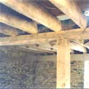 Farmhouse floor joists on carrier beams