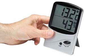 Home Humidity Meter for monitoring Relative Humidity and Temperature in the roof.